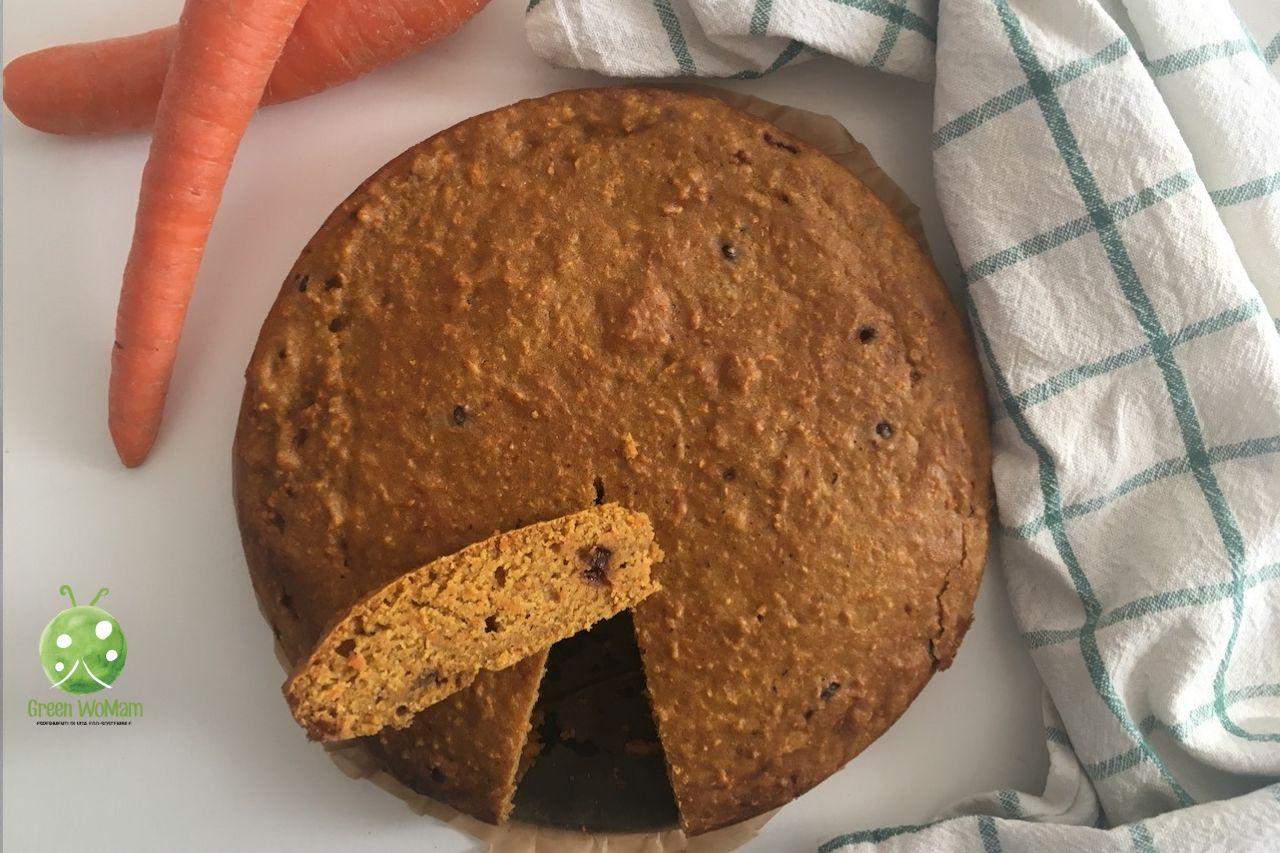 torta alle carote vegana senza lievito